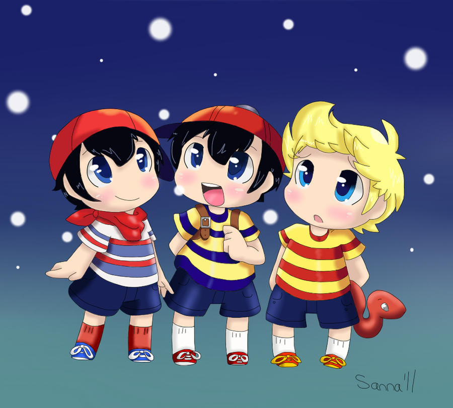 Ninten, Ness and Lucas by TheChipMunksFan on DeviantArt