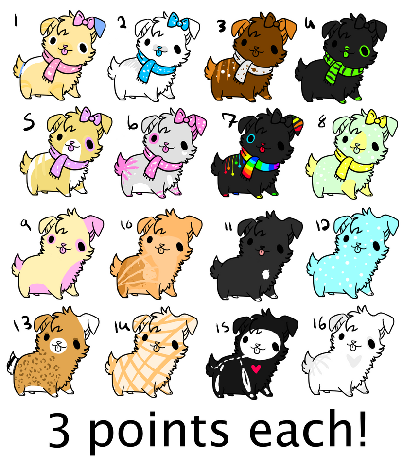 ....::::puppy adopts 3 points each:::.... by echoing-adopts