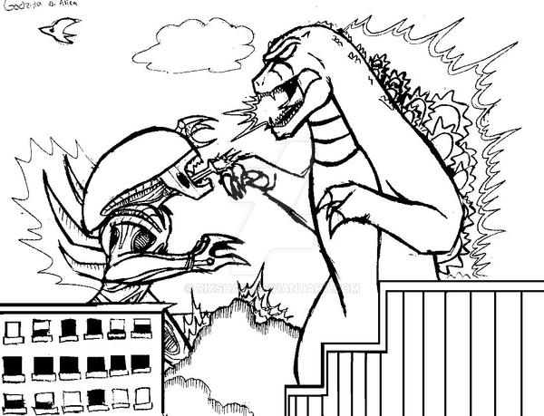 predator vs jason coloring pages - photo#21
