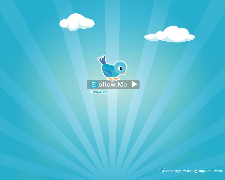 Twitter f.ollow.me wallpaper by rikulu