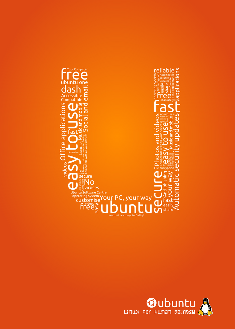 Ubuntu Poster - U by rikulu