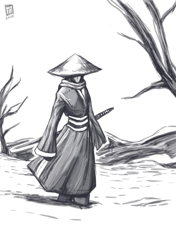 wandering swordsman by Elagune