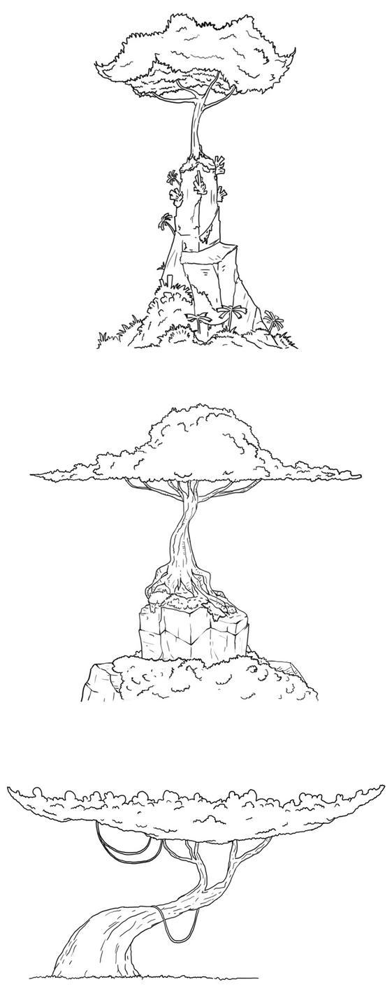 Trees by ker-tar