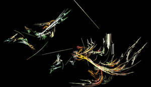 Dragons fight by darthsabe