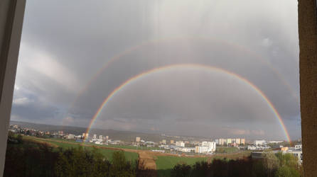 Double rainbow by darthsabe