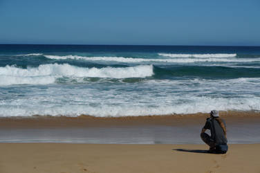 Small before the waves by darthsabe