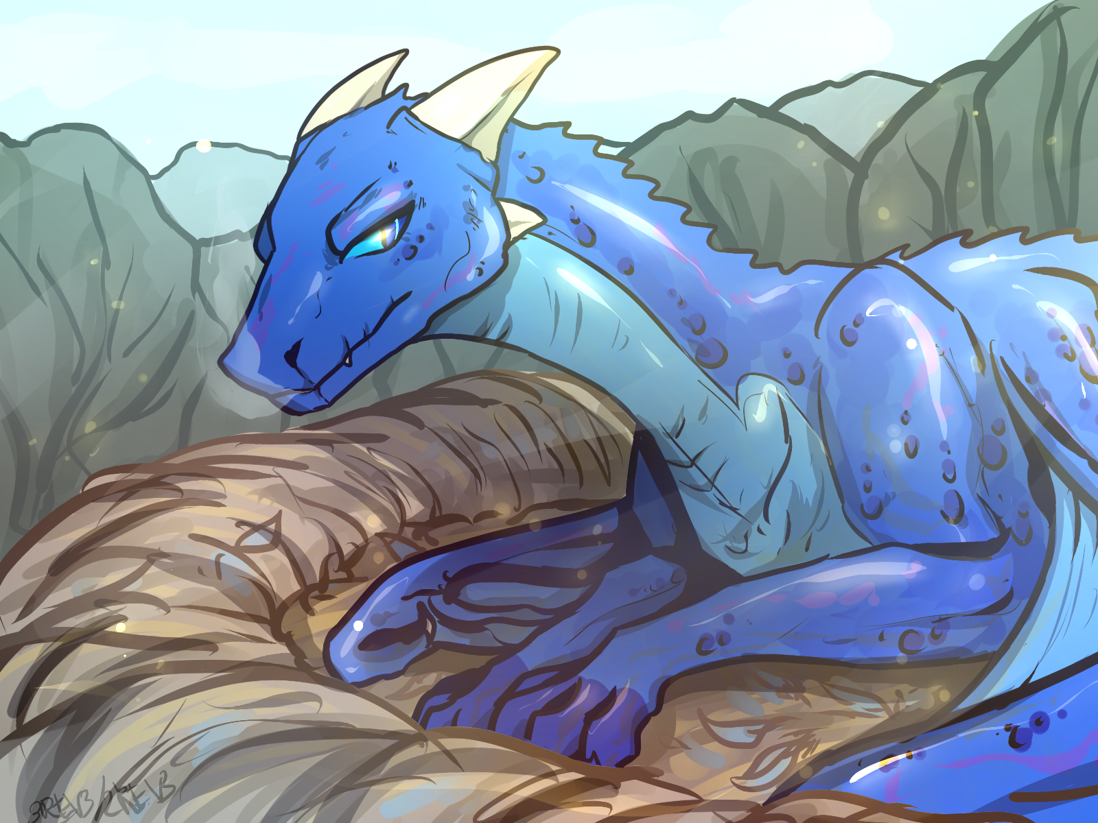 Tiny Saphira by 2rev3