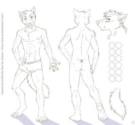 Wolf Character Sheet Template [For Free Use!] by Atimos