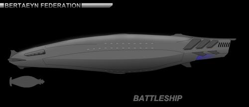 CoM - Bertaeyn Federation Battleship W.I.P. 1 by breizh87