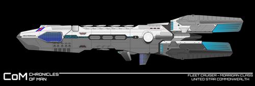 CoM : Morrigan class / Fleet cruiser by breizh87