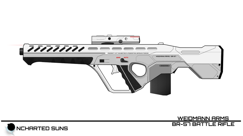 BR-57 Battle Rifle / White -Uncharted Suns- by breizh87