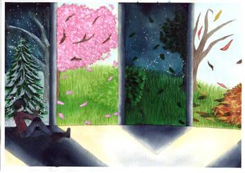 Window of Seasons by ArtistQuutamo