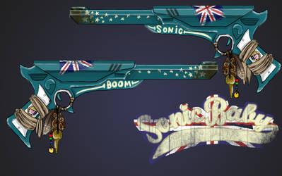 Killjoy Gun and Logo by tea-britannia