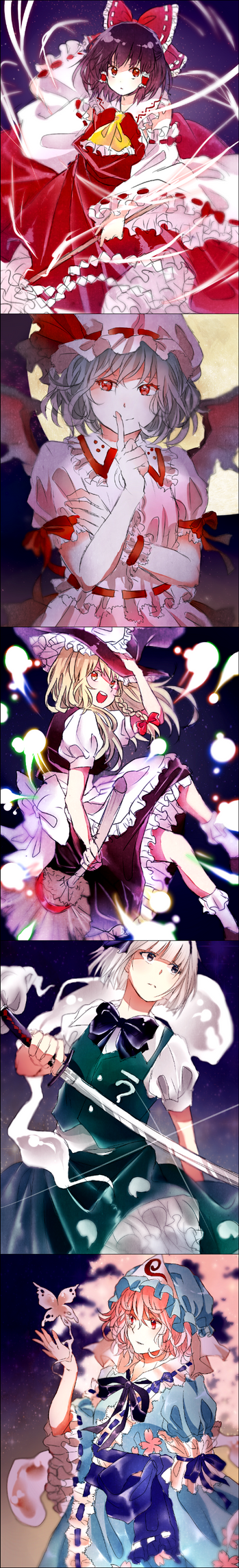 Touhou Doodles by Andressina