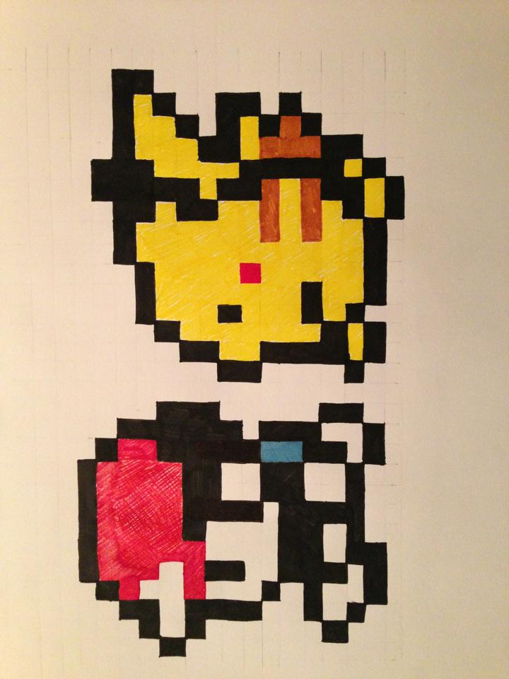 8 bit Pikachu and Ash  Funnyjunk  Funny Pictures Funny
