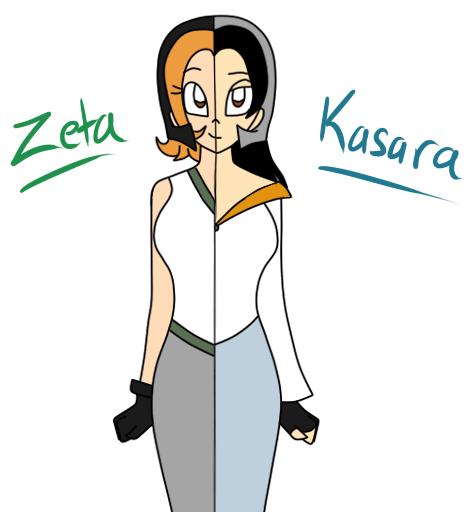 Zeta VS Kasara by MiharuWatanabe