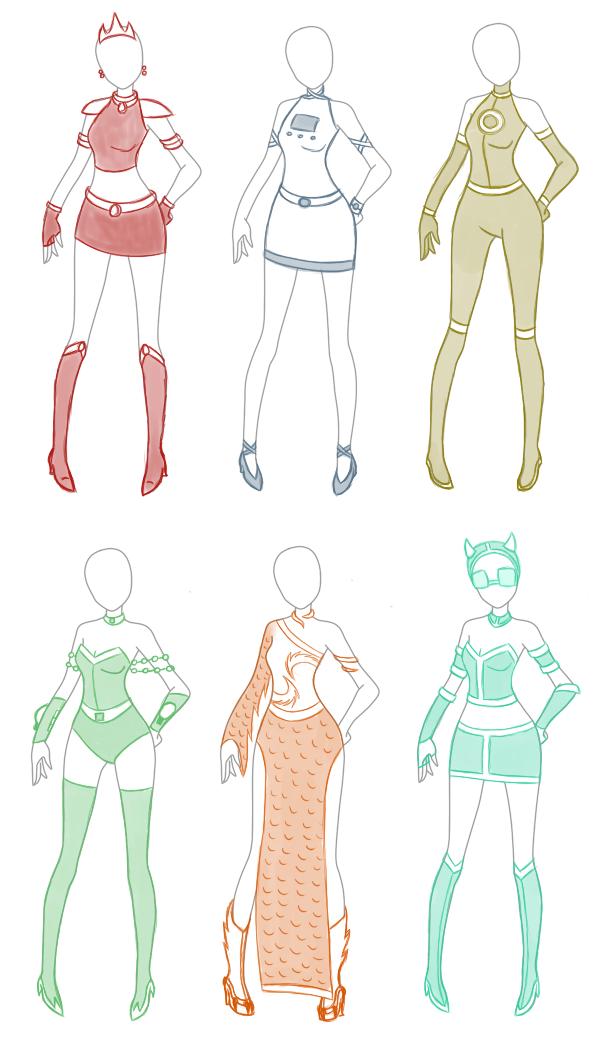 PR/Sentai OC Costume Designs 1 by MiharuWatanabe