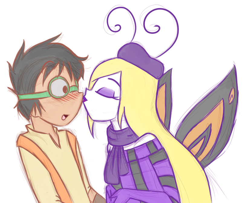 Commission - Butterfly Kiss by MiharuWatanabe