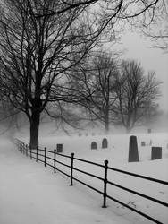 Cemetery Fog South Hollis by rayc33