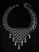 Triangle Crystal Choker by whitefantom