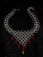 Red Triangle Choker by whitefantom