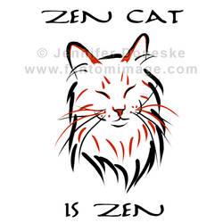 Zen Cat by whitefantom