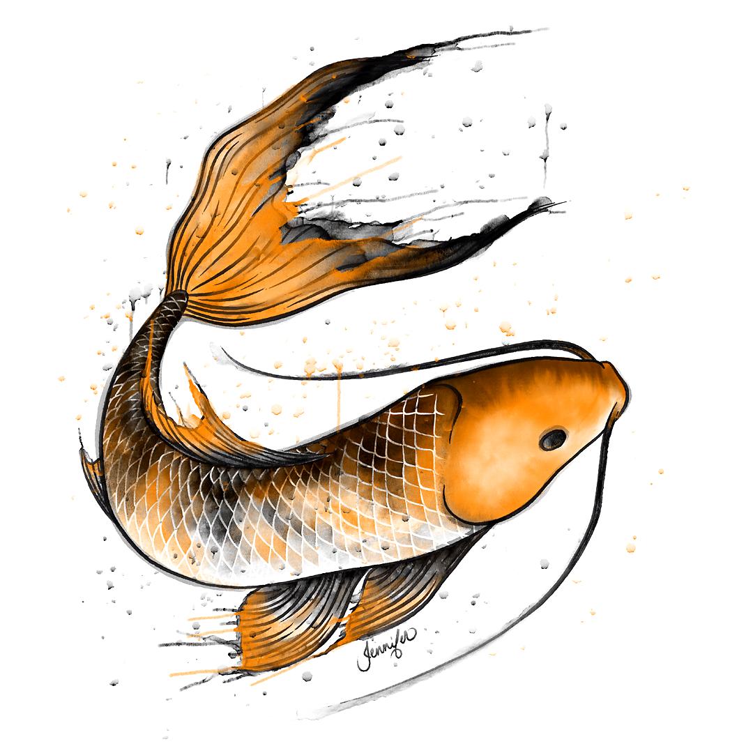 Inktober 2020 - Day 1 - Fish
