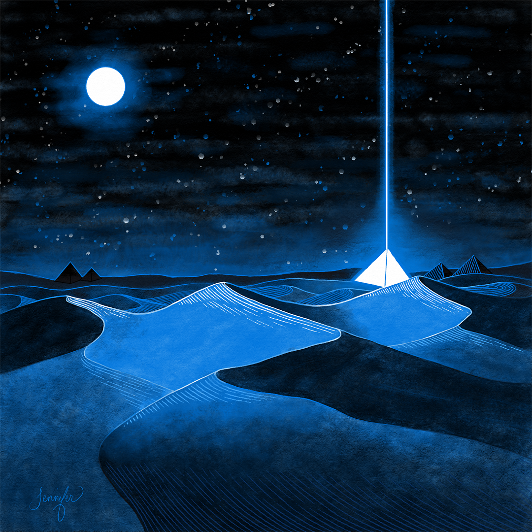Inktober 2020 - Day 13 - Dune