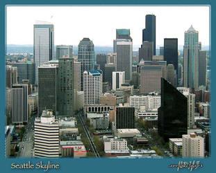 Seattle Skyline -jpt2- by psych0phobia