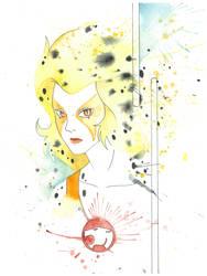 Cheetara Watercolor by JAWart728