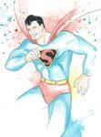 Golden Age Superman Watercolor