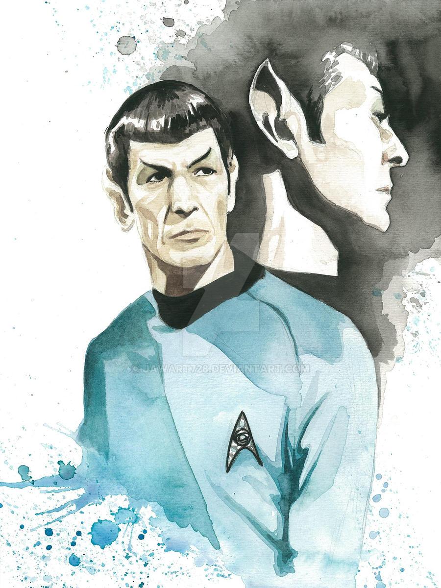 Star Trek Watercolor: Spock by JAWart728
