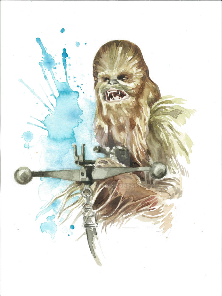 Star Wars Watercolor Print Chewbacca By JAWart728 On