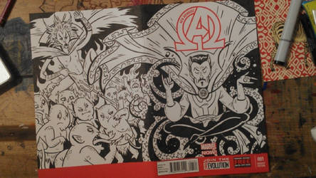 New Avengers Sketch Cover by JAWart728