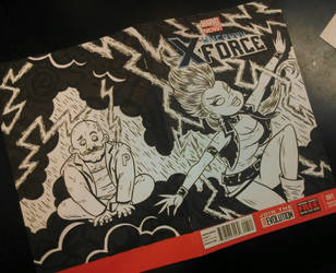 Uncanny X-Force sketch Cover by JAWart728