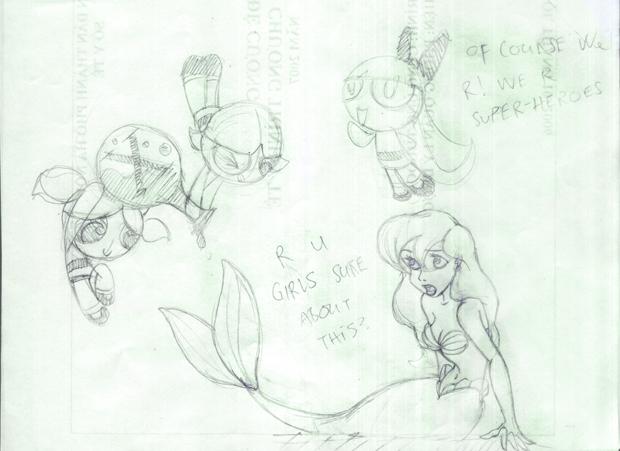 Ariel meets The Powerpuff Girl by tta269