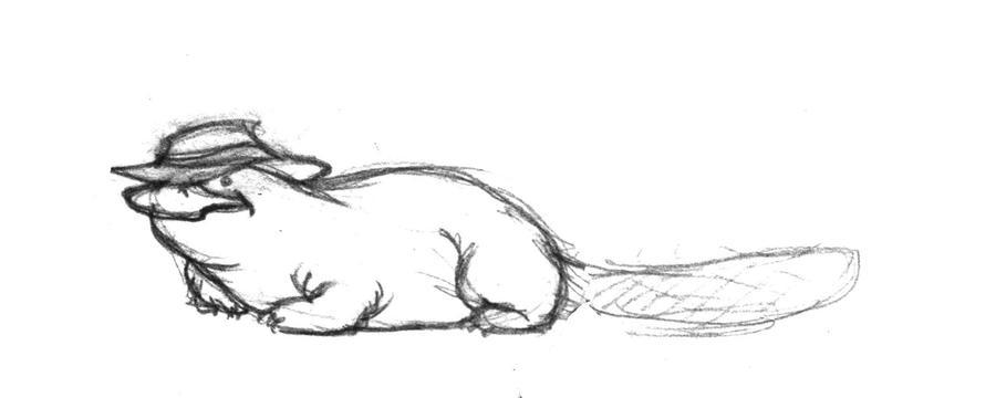 Platypus in a fedora by tta269