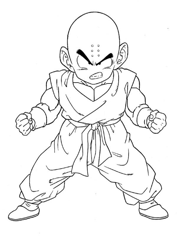 Coloring Pages Of Dragon Ball Z Characters #9