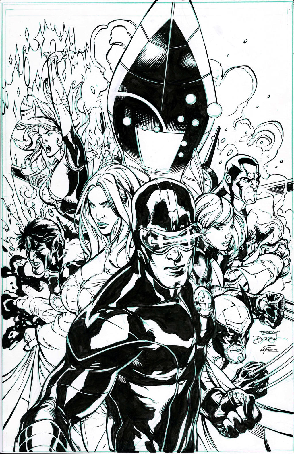 Uncanny X-Men #505 Cover by Terry Dodson by afowlerart
