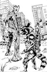 Rocket and Groot - The Last of Us by afowlerart