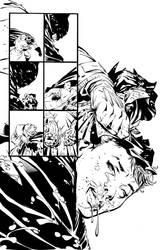 Dark Knight III: The Master Race #1, Pg. 27 Inks by afowlerart