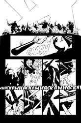 Dark Knight III: The Master Race #1, Pg. 23 Inks by afowlerart