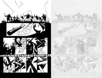 Dark Knight III #1, Pg. 23 (Comparison) by afowlerart
