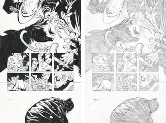 Dark Knight III #1, Pg. 25 (Comparison) by afowlerart