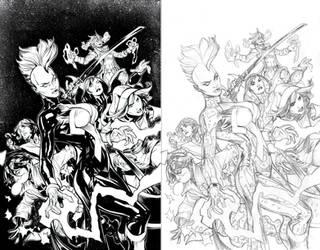 X-Men #1 by Terry Dodson by afowlerart