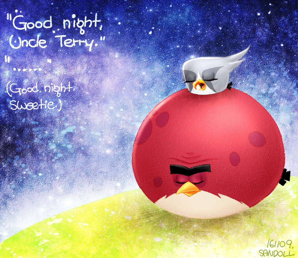 Angry Birds Good Night Silver And Terrence By Cheon Sandoll On