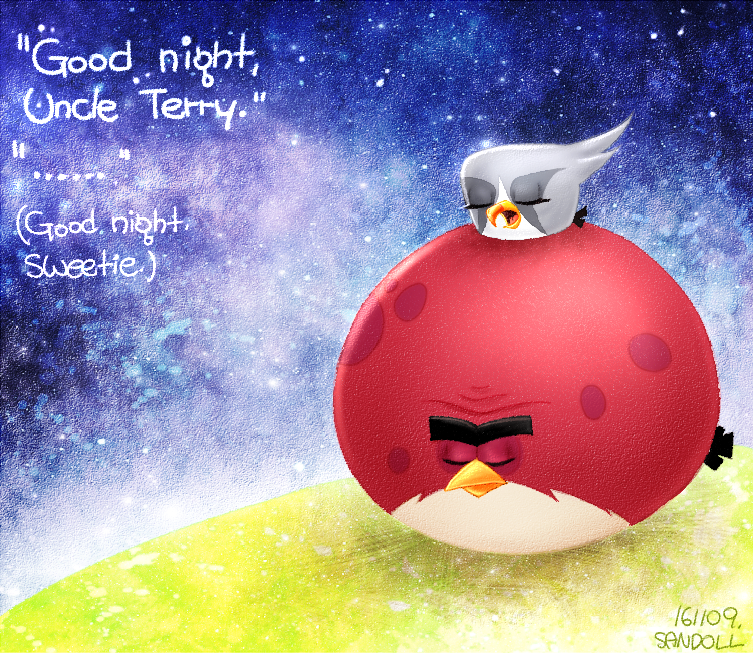 Angry Birds] Good Night, Silver and Terrence by Cheon