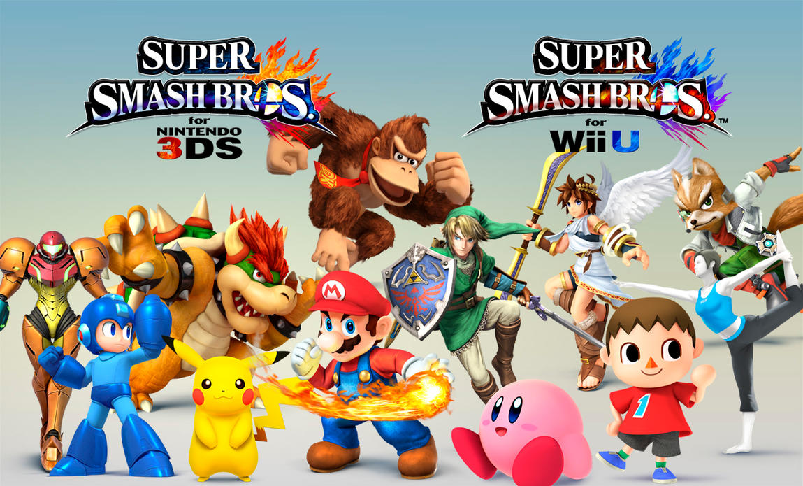 Super Smash Bros 3DS Wii U Wallpaper By Darkmudkip6