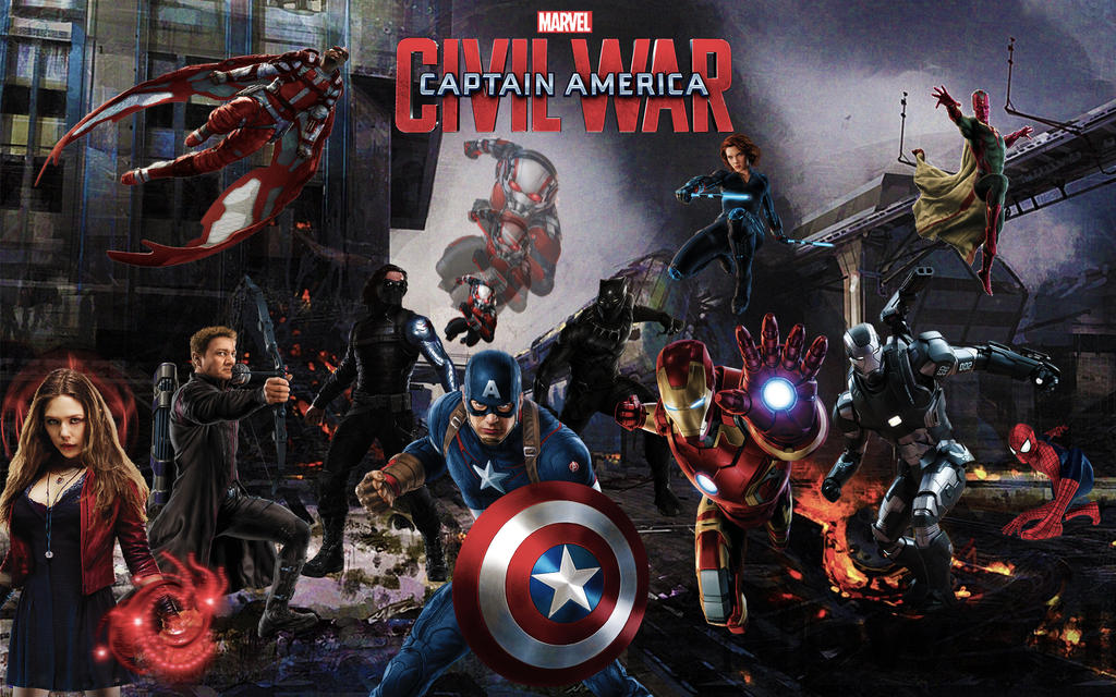 Captain America 3 Civil War Wallpaper By Darkmudkip6