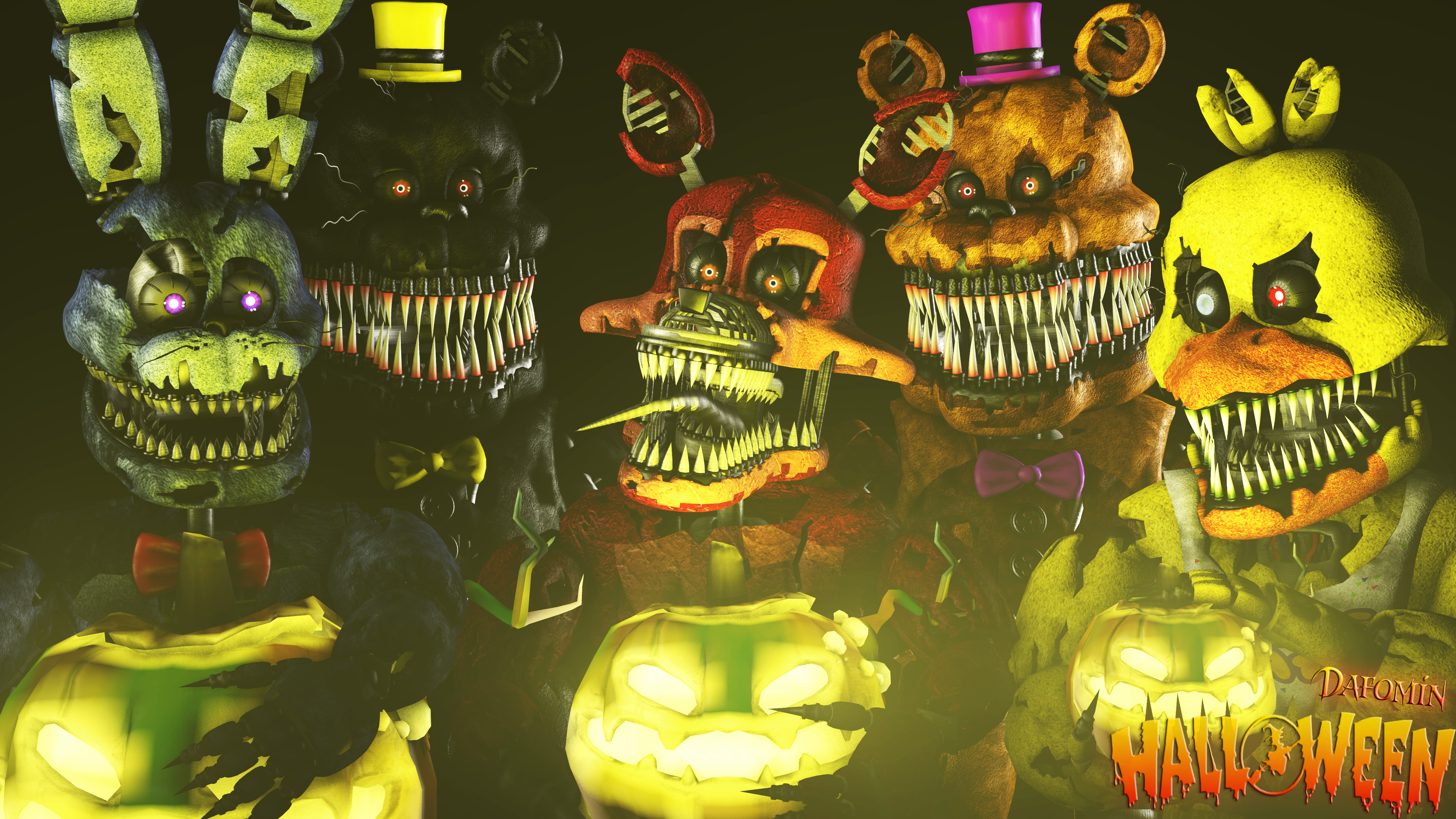 SFM FNAF]-Halloween by Dafomin on DeviantArt